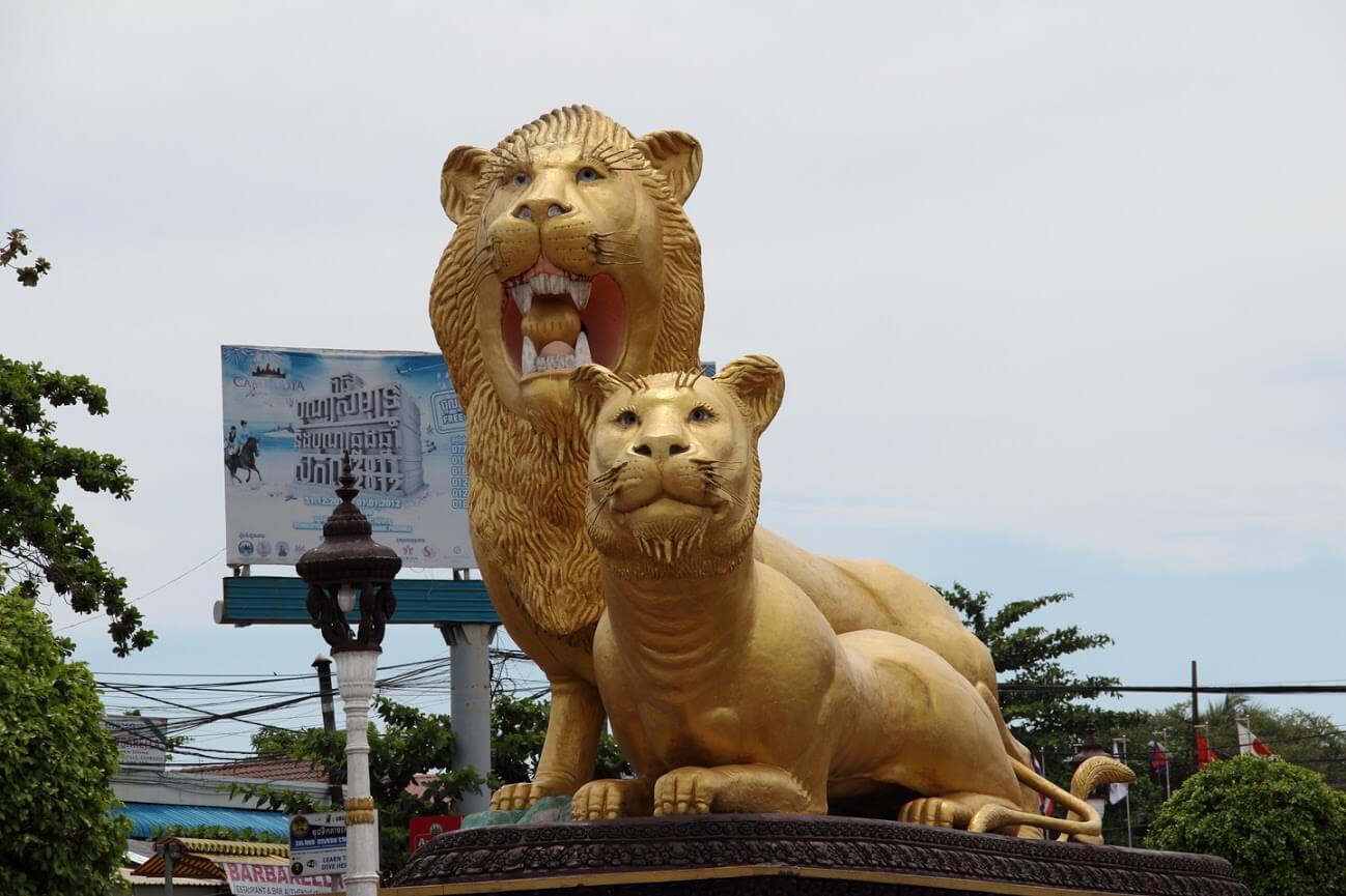 Два льва - символ Сиануквиля