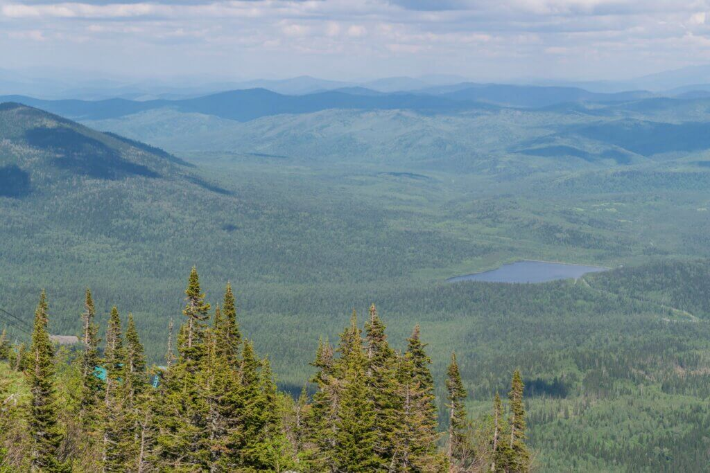 Летние виды с горы Зеленая, Шерегеш